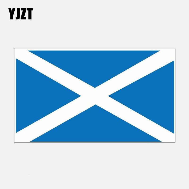 YJZT см 6,7 см * 11,6 см креативный Шотландии городской флаг мотоцикл автомобиль наклейка аксессуары 6-2841