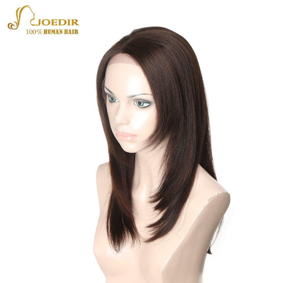 JOEDIR волосы прямые Синтетические волосы на кружеве человеческих волос парики длинные боб парик шнурка с ребенком волос коричневый/черный/бе...
