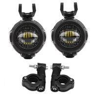 FADUIES 40W LED Hilfs Lampe 6000K Super Helle Nebel Fahr Licht Kits mit Schützen Wachen Kabelbaum Für BMW Motorrad