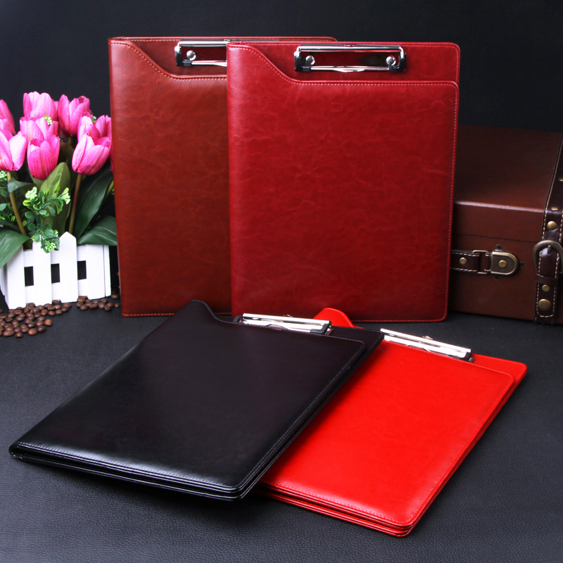 QSHOIC British business manager A4 Lijia multifunctional folder leather package sales of office supplies custom folder