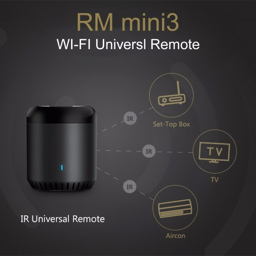 Broadlink Smart Home Original RMMini3 WiFi+IR+4G Remote Control Wireless Controller Work For Alexa Google Home