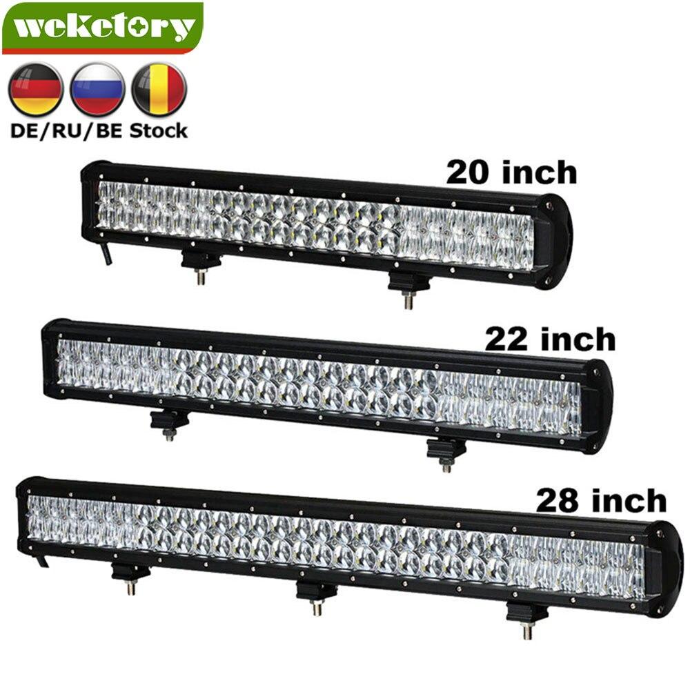 Weketory 5D 20 22 28 pulgadas 210 W 240 W 300 W LED Barra de luz de trabajo para Tractor Boat OffRoad 4WD 4x4 camión SUV ATV haz Combo
