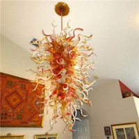 Elegant Long And Big Size Murano Glass Hotel Lobby Decorative Chandelier LR1118