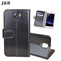 Leather Case For Wileyfox Swift 2 Wallet Flip Cover For Wileyfox Swift 2 Plus 5.0 inch J&R Luxury Stand Mobile Phone Bag & Cases