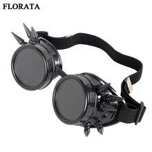 FLORATA Cheap Gothic Victorian Goggles Retro Welding Punk Steampunk Cosplay Glas