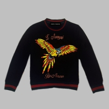 Women's round collar sequins animal motifs leisure embroidery letters cotton fleece