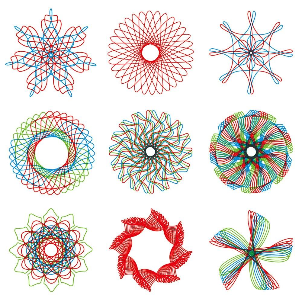 34 Unids/set Simple Arte Creativo Establece Niño Arte Pintura Regla Pista Modelo Educativo Juguetes Flor Mágica Gobernante Juegos Compra Ahora