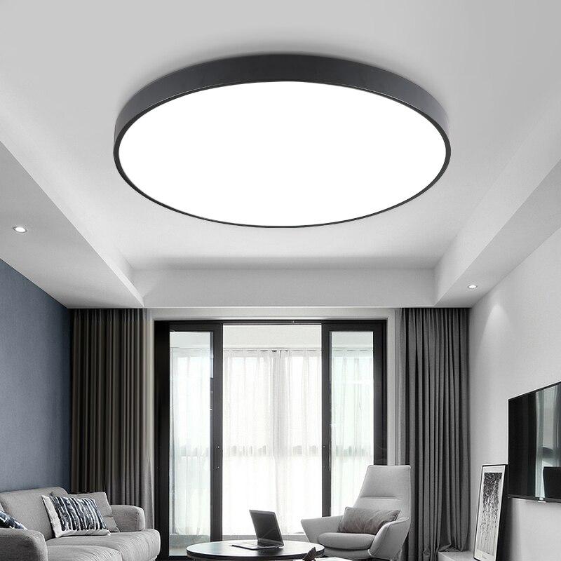 Lustres De Sala 2018 Venda Oferta Especial Ce Abajur Ultra-fino Led Teto Lâmpadas de Iluminação Para A Sala de estar para Modern High 6cm