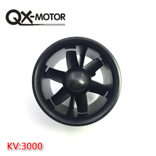 QX-MOTOR Brand 1 set 70mm Duct Fan 2822 3000kv Motor Spindle-4mm Motor W/ 60A esc for Jet RC EDF Wholesale цена