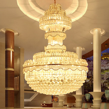 Modern Crystal Chandelier European Long Chandeliers Lighting Fixture Luxury American Big Lights Home Indoor