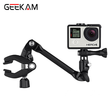 Фотография GoPro The Jam Guitar Drum Clips 360 Degree Rotation Adjustable Music Clip Mount Arm Stand Clamp for GoPro Action camera