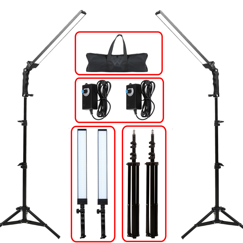 GSKAIWEN Photography Light Studio LED Lighting Kit Adjustable Light With Light Stand Tripod Photographic Video Fill Light