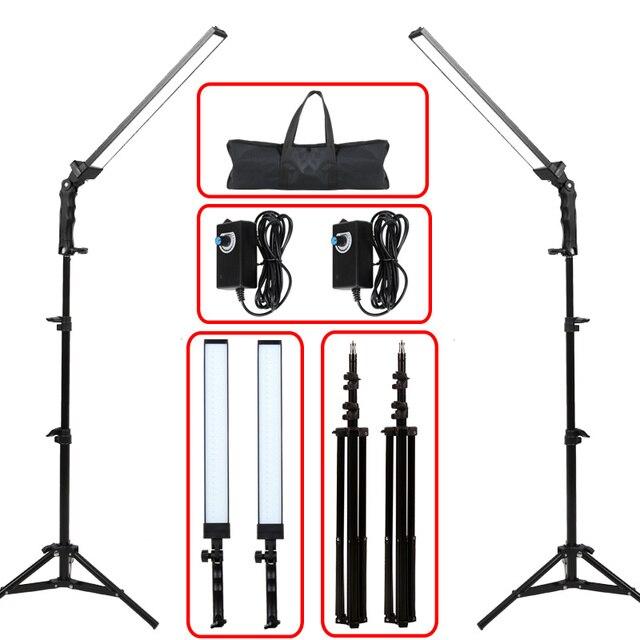 GSKAIWEN 사진 조명 스튜디오 LED 조명 키트 라이트 스탠드 삼각대와 조절 라이트 사진 비디오 채우기 라이트