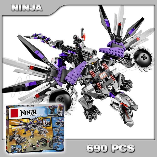 Ninja Lames Spinning Escadre Pièces 690 Dragon Nindroid Mech LqAR3j54