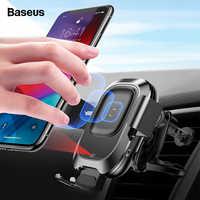Baseus Qi Caricabatteria Da Auto Senza Fili Per il iphone 11 Pro XS Max Samsung S10 Intelligente A Infrarossi Veloce Wirless Ricarica Del Telefono Per Auto supporto