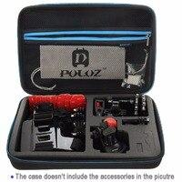 PULUZ Portable Dur Sac Grande Taille Caméra Sac Boîte De Rangement De Protection Pour Go Pro Accessoire Pour Camera Action Accessoires