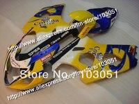 Carrocerías para SUZUKI GSXR 2004 600 carenado K4 2005 GSXR 750 carenados 04 05 brillante amarillo oscuro azul Corona DB38