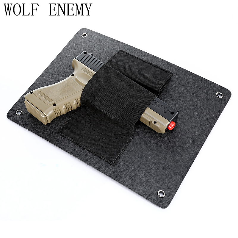 Sports & Entertainment Hunting Gun Accessories Under Table Desk Chair Pistol Holster Gun Concealment Handgun Holders Universal Hidden Concealed Holsters For Vehicle Car Doors Good Companions For Children As Well As Adults