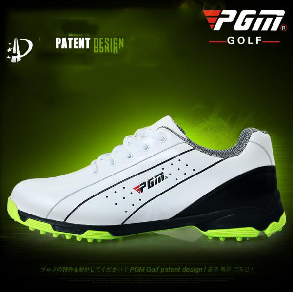 The new PGM head layer cowhide Golf shoes skid men sports shoes patent Lightweight Waterproof freeshipping pgm supreme golf club set 13clubs titanium for men with golf bag driver 2woods hybird 8irons putter stand bagpackage head covers