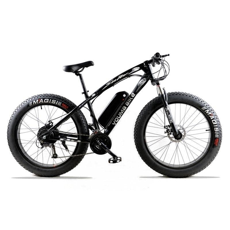Электрический велосипед 48 В 500 Вт 10 an 27 скорость Мощный электрический жира велосипед литиевых Батарея Электрический велосипед 26 X 4.0 off road bike ...