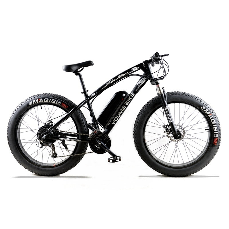 Electric bicycle 48 V 500 W 10 AN 27 speed 26X 4.0 powerful electric fat bike Lithium Battery  Off road bike richbit ebike new 21 speeds electric fat tire bike 48v 1000w lithium battery electric snow bike 17ah powerful electric bicycle