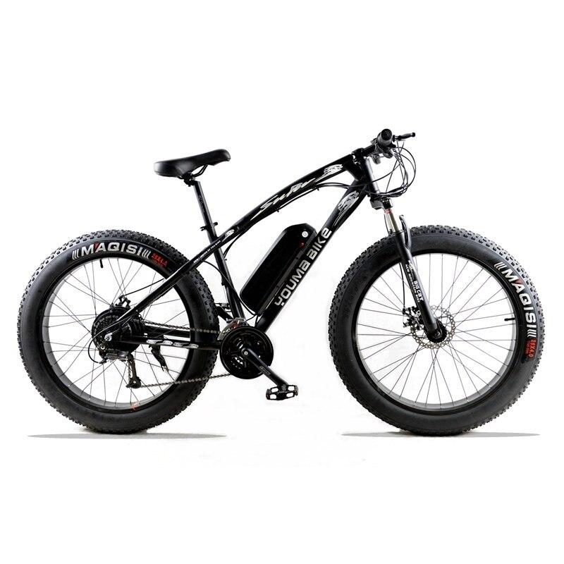 mountain bike Electric bicycle 48 V 500 W 10 AN 27 speed 26X 4.0 powerful electric fat bike Lithium Battery Off road bike