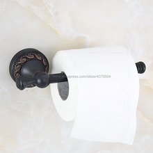 Oil Rubbed Bronze Toilet Paper Holder Roll Holder Tissue Holder Bathroom Accessories Products Paper Hanger Nba459 antique black brass paper box tissue roll holder round base brushed toilet paper holder bathroom accessories products hk3