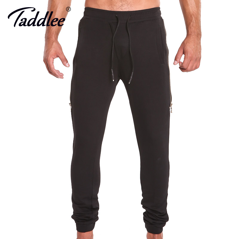 Taddlee Brand Mens Joggers Pants Running Fitness Sport Basic Gasp Slim Fit Bottoms Skinny Black Workout Sweatpants With Pocket Mild And Mellow Sports & Entertainment