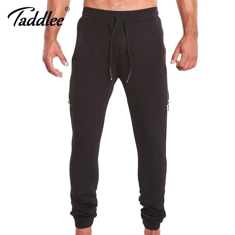 Taddlee marque hommes Joggers pantalon course Fitness Sport basique Gasp Slim Fit bas Skinny noir entraînement pantalons de survêtement avec poche
