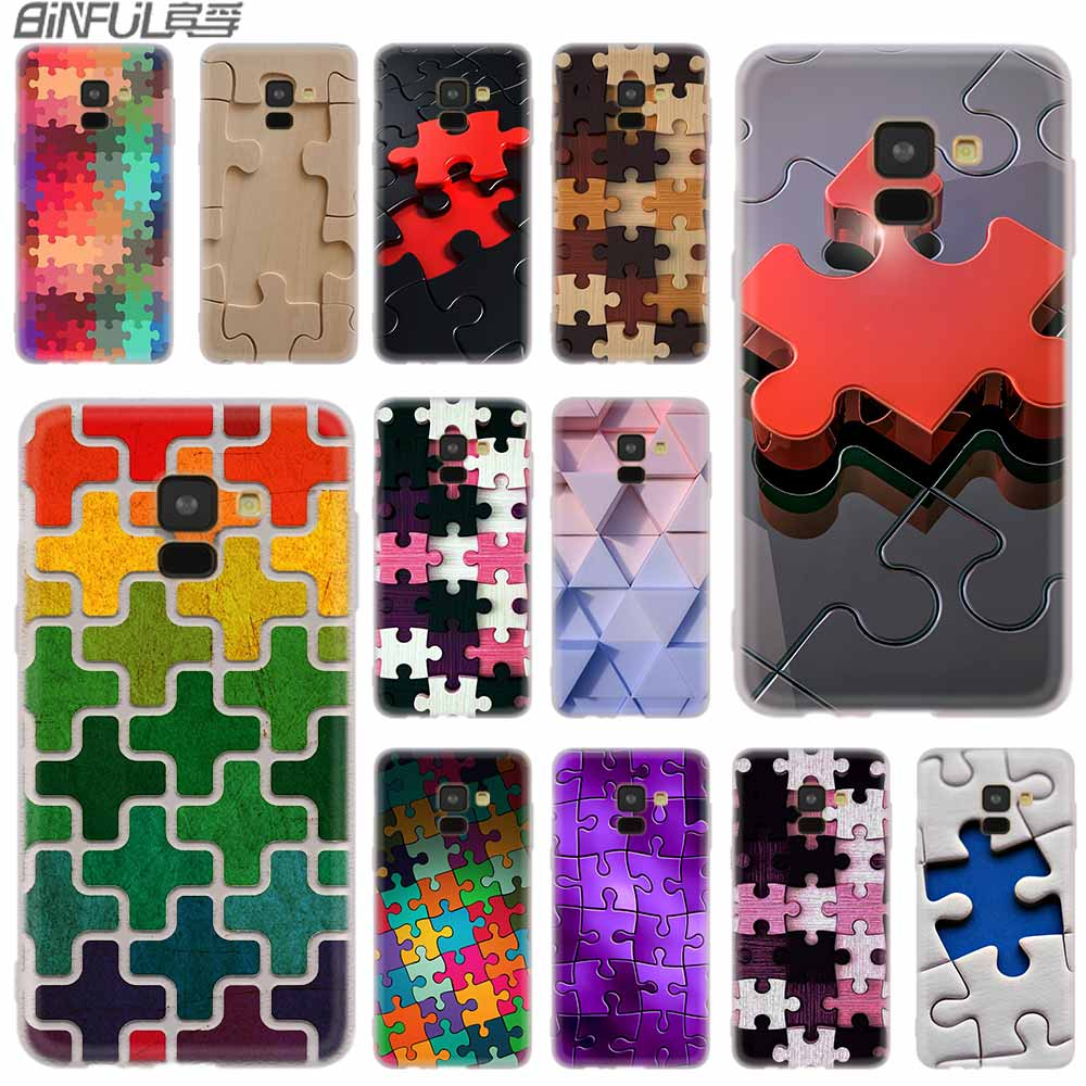 Devoted Cover Silicone Case For Samsung Galaxy A6 A8 A9 A7 A5 A3 Plus 2018 2017 2016 2015 A6s Star Puzzle Art Agreeable Sweetness Phone Bags & Cases