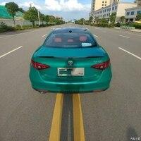 For Alfa Romeo Giulia Spoiler Carbon Fiber Rear Trunk Spoiler Black Finish Quadrifoglio Verde QV Style 2015 UP