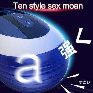 Image 5 - ญี่ปุ่น AV Star 4D ช่องคลอด Masturbator ชาย,หมุน telescopic Sex moaning ฟังก์ชั่น Retractable Sex Machine ของเล่นสำหรับชาย