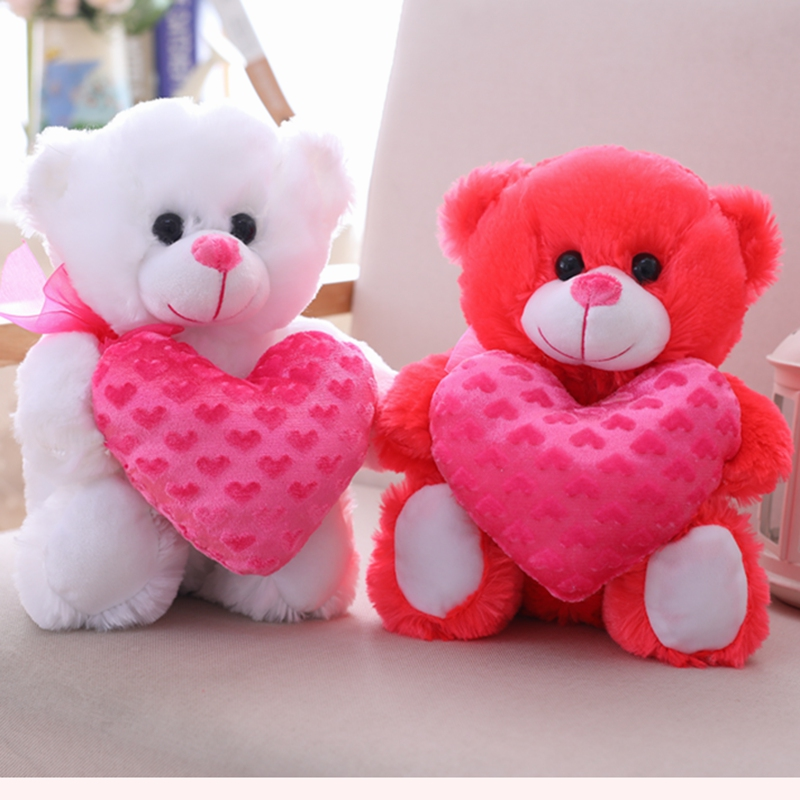 35 Cm Soft Love Teddy Bear With Heart Plush Toy Stuffed