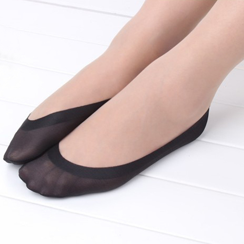 1Pair Women Cotton Antiskid Invisible Liner No Show Peds Low Cut Ice  Sock Slippers ...
