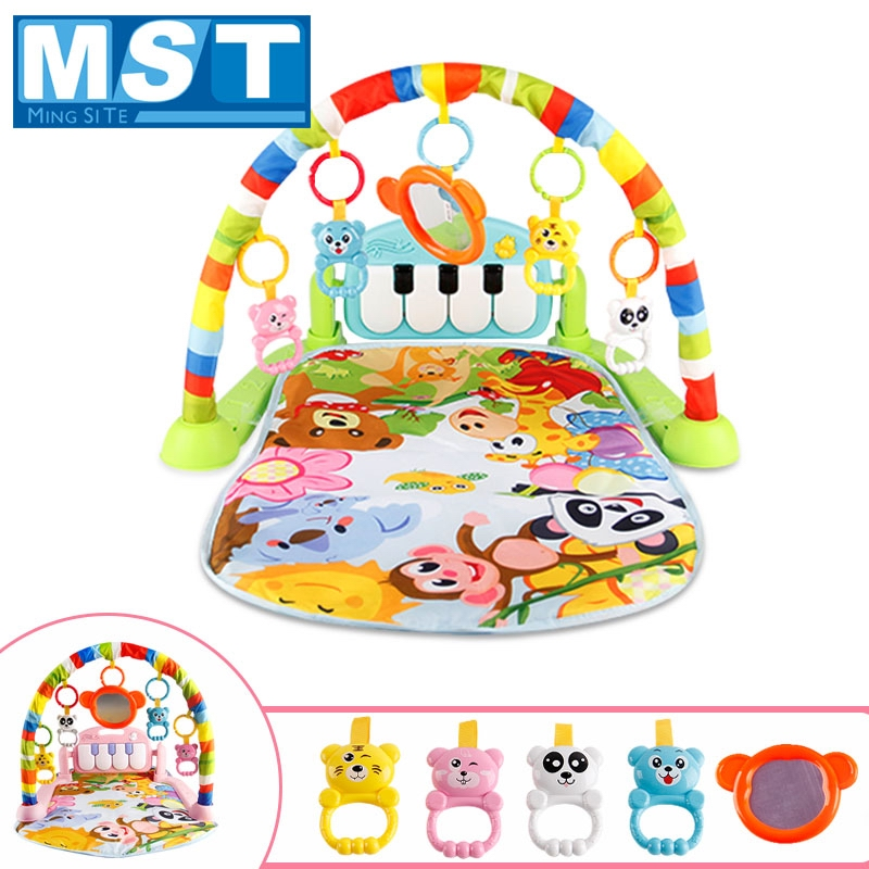 Musical Baby Toys Play Mats Child Rugs Educational Carpet With Piano Keyboard Animal Gym Infant Rack Playmat Baby Crawling Mat