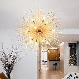 Image 3 - Lampade a sospensione nordiche soggiorno antico lampade a mano oro artistico illuminazione a LED Luminaria industriale decorazione domestica moderna