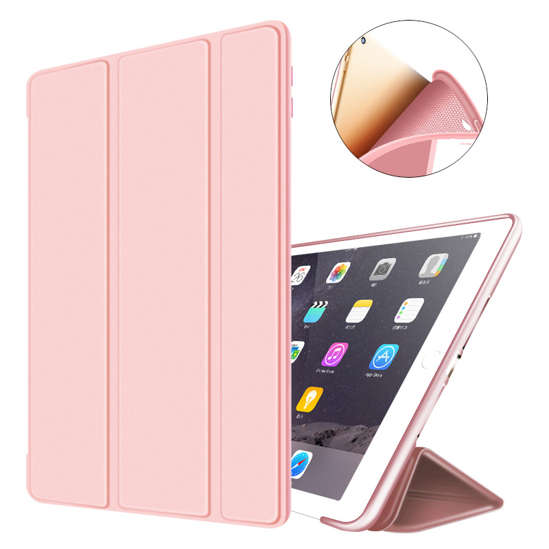 Smart Case for ipad air2 Flip Ultra Thin Leather Stand Cover case for Apple Ipad 6 Silicone soft shell for ipad air 2 case nice soft silicone back magnetic smart pu leather case for apple 2017 ipad air 1 cover new slim thin flip tpu protective case