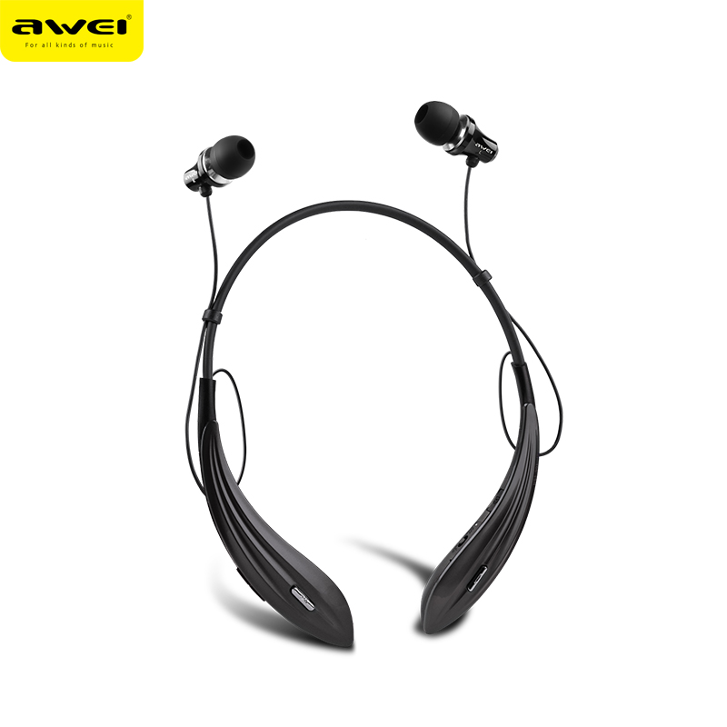 Awei A810BL Sports Bluetooth Headphone Wireless Earphone With Mic  Super Bass Stereo Auriculares Audifonos Fone de ouvido awei a885bl wireless sports headphone stereo bluetooth earphone music mic