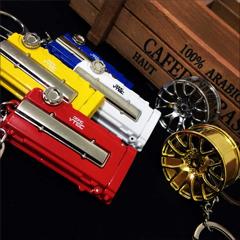High quality JDM metal vtec DOHC engine K20 car turbo key ring for honda  keychain civic gk5 b16 b18c ek9 jazz accord accessories