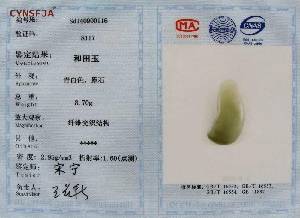 Cynsfja Real Rare Certified Natural Chinese Hetian Zaad Rivier Jade Amuletten Ruwe Steen Jade Hanger Hoge Kwaliteit Beste Geschenken
