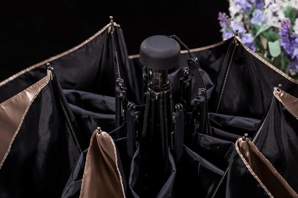 női esernyő esernyő összecsukható fekete vízálló TTK márka - Háztartási árucikkek - Fénykép 5