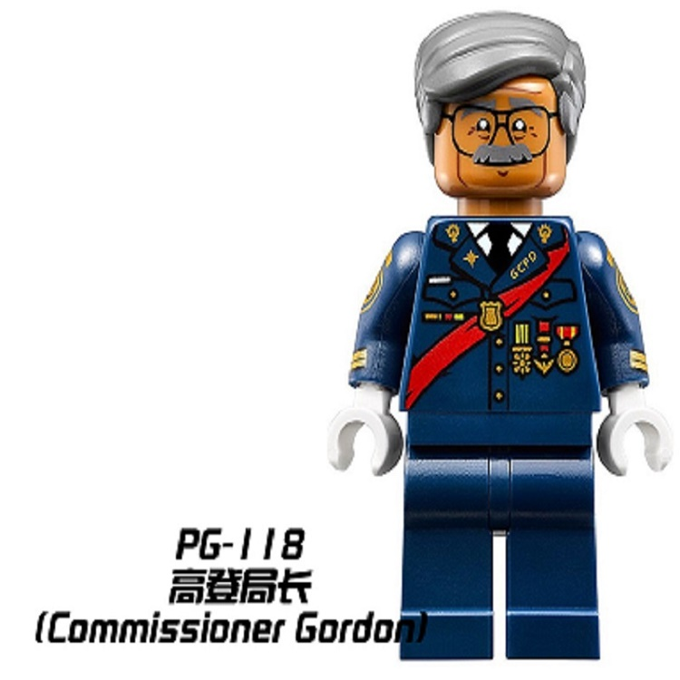 50Pcs Commissioner Gordon DC Super Hero Batman Movie collection assemble Building Block best childrens Gifts Toys PG118