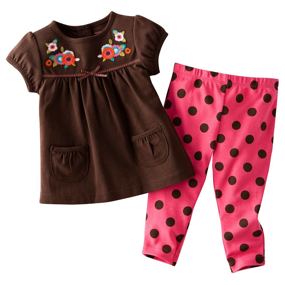 Carter's girls' suit clothes blouses boys sets pants tracksuit trousers top tights kid outfit t shirts tee shirts garments LM116