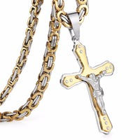 Christian Jesus Cross Crystal Necklace 2