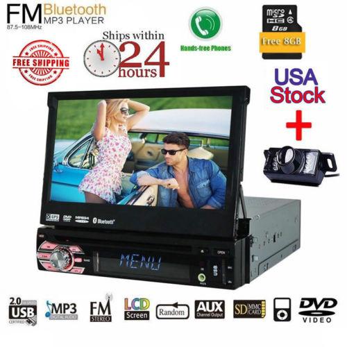 Livre Backup Camera GPS Eincar 7 polegada Carro Autoradio DVD Player Automotive Suporte USB SD Aux Multimedia Unidade Central do sistema AM FM Rec