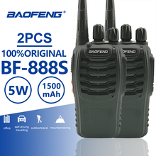 цена на 2pcs Baofeng Bf-888s Walkie Talkie 5W 16CH UHF 400-470MHz Portable Radio BF888s Comunicador Transmitter Hf Transceiver BF 888S