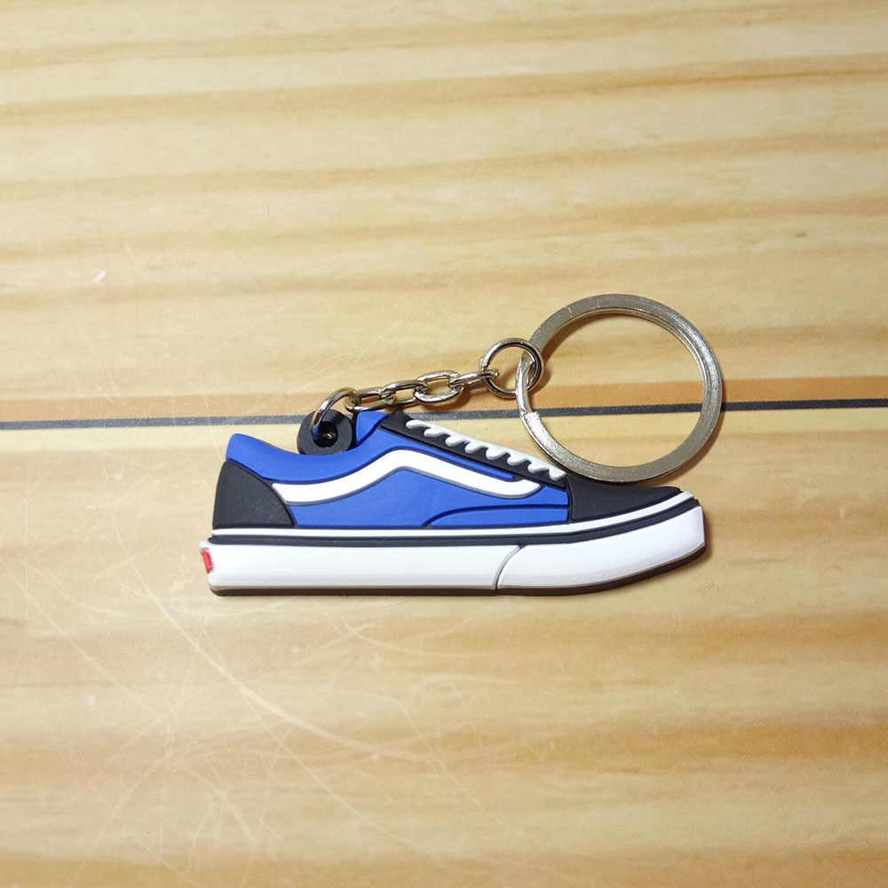 NEW Mini Silicone Jordan Sapatos Homens Mulher Kids Presentes Chave Anel Keychain Bolsa Charme Sneaker Chaveiro Chave Titular