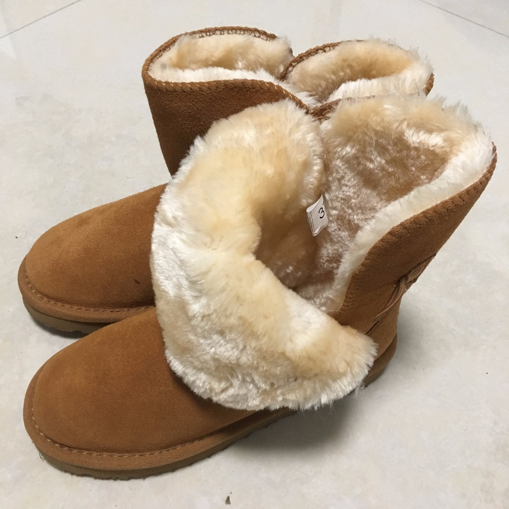 MBR New UG Women Snow boots Fashion Quality Genuine Suede Leather Australia Classic Warm Winter shoes Snow Boots Size 3-13 2017 sales of the most popular hot winter boots women ug australia boots women slip warm women s boots in the snow size 34 44