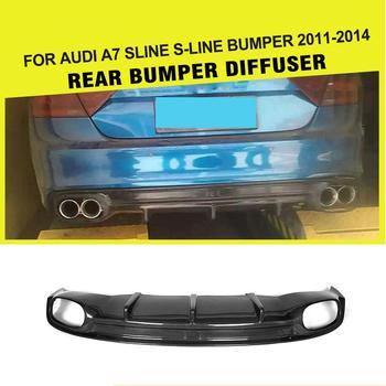 Carbon Fiber / FRP Car Rear Bumper Lip Auto Diffuser Spoiler for Audi A7 Sline S7 2013 2014 2015