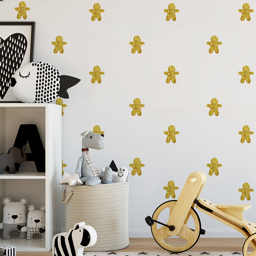 Glitter wall stickers image collections home wall decoration ideas aliexpress buy 6 sheets diy gingerbread man wglitter wall aliexpress buy 6 sheets diy gingerbread man amipublicfo Choice Image
